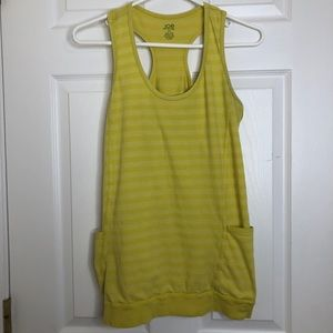 Joe Fresh Tank Top Yellow Striped Size Medium